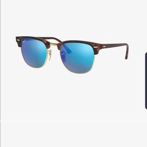Ray-ban unisex clubmaster flash lense in blue